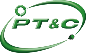 green paper tube and core logo with white text